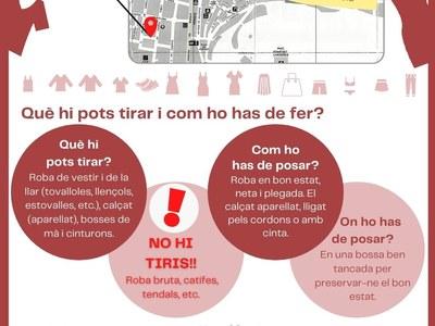 CONTENIDORS DE RECOLLIDA DE ROBA, CALÇAT I COMPLEMENTS