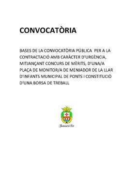 CONVOCATÒRIA
