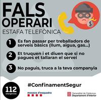 FALS OPERARI / ESTAFA TELEFÒNICA