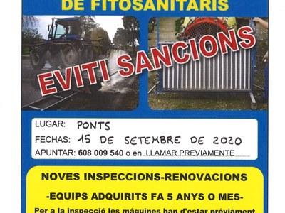 INSPECCIÓ D'EQUIPS APLICADORS DE FITOSANITARIS