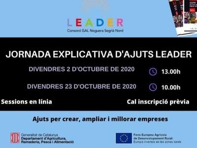 OBERTA LA CONVOCATÒRIA 2020DELS AJUTS LEADER PER A CREACIÓ, AMPLIACIÓ I MILLORA D'EMPRESES