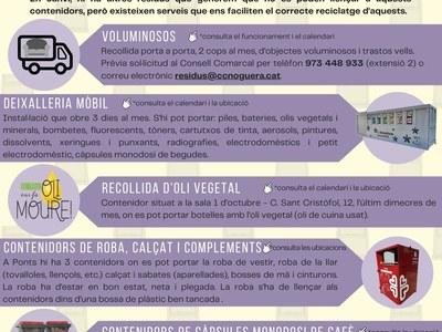 RESUM DELS SERVEIS DE RECOLLIDA DE RESIDUS AL NUCLI DE PONTS