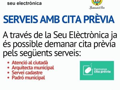 Serveis d'atenció municipal amb cita prèvia