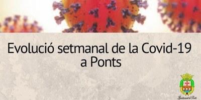 Evolució setmanal de la Covid-19 a Ponts –  25 de juny de 2021