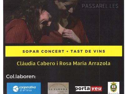 SOPAR CONCERT + TAST DE VINS