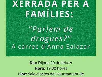 """Xerrada per a families """"PARLEM DE DROGUES"""""""