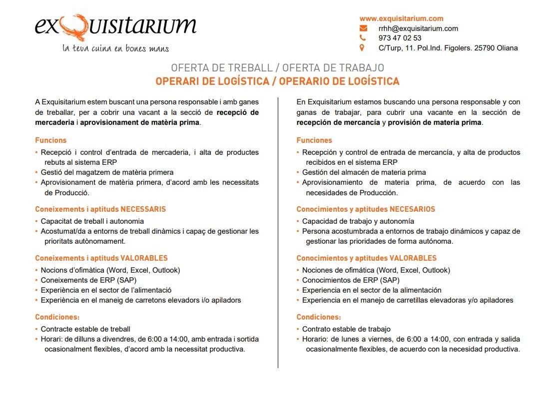 Oferta Treball - Exquisitarium Logistica.jpg
